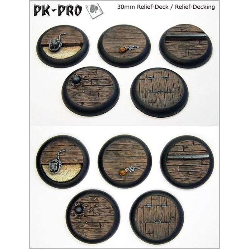 30mm Relief Decking Set Bases 5x PK-W30-Deck-Set