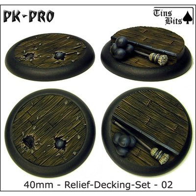 40mm Relief Decking Set 2 Bases 2x