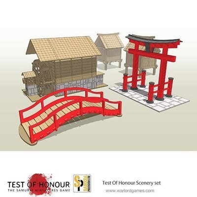 Test Of Honour Scenery Set Japanese Buildings - Warlord Games