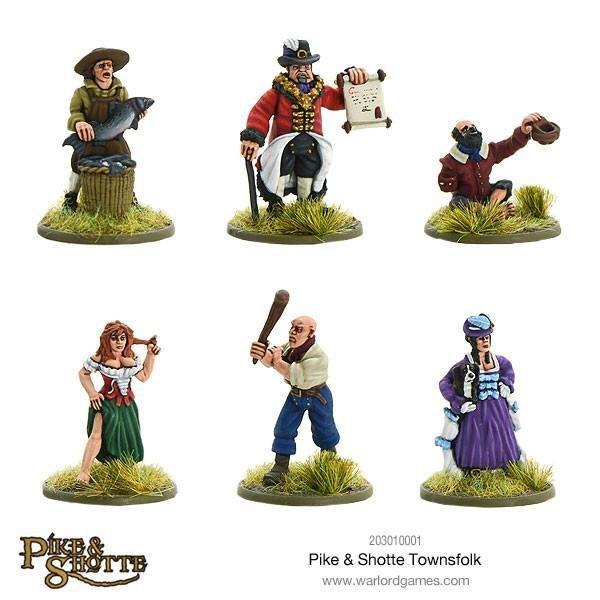 Townsfolk Stadtbewohner - Pike & Shotte - Warlord Games