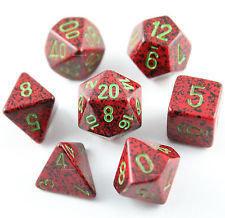 Strawberry - Speckled Polyhedral 7-Die Set (7) - Chessex CHX25304