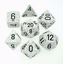 Arctic Camo - Speckled Polyhedral 7-Die Set (7) - Chessex CHX25311