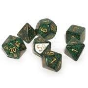 Golden Recon- Speckled Polyhedral 7-Die Set (7) - Chessex CHX25335