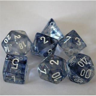 Nebula Black-White Dice Set - 7-Die Set (7) - Chessex