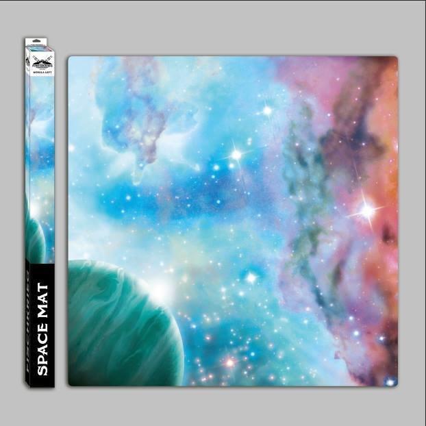 Space mat: Nebula left - in Mousepad-Qualität - Spielmatte - Fischkrieg