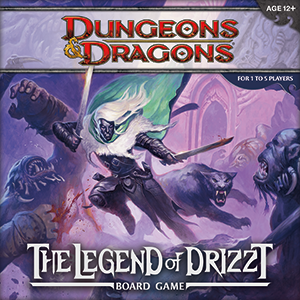 D&D Dungeons and Dragons - The Legend of Drizzt Board Game