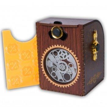 Wooden Deck Case - Gears - Kartenbox