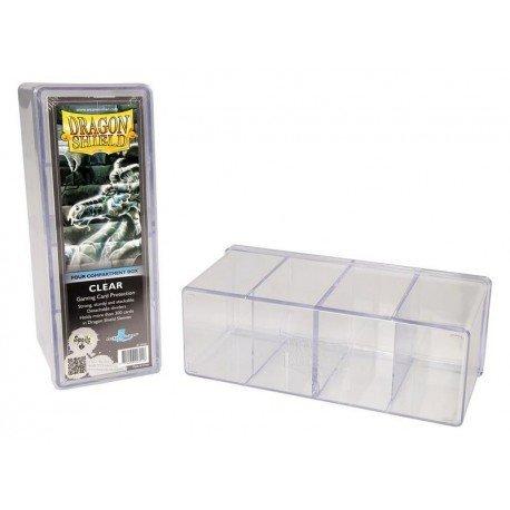 Dragon Shield 4 Compartment Storage Box Clear
