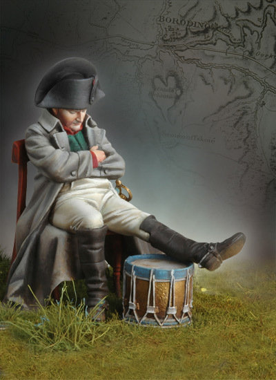 Napoleon at Borodino, 1812 - 54mm - Andrea Miniatures