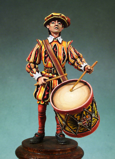 Infantry Drummer - Army of Charles V - 54mm - Andrea Miniatures