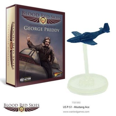 US P-51 Mustang Ace - George Preddy - Blood Red Skies - Warlord Games
