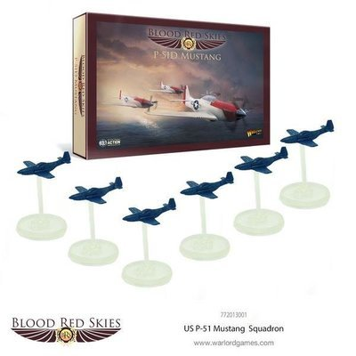 US P-51 Mustang 6 Plane Squadron - Blood Red Skies - Warlord Games