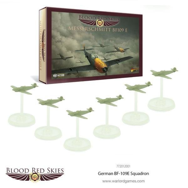 German BF-109 6 Plane Squadron Messerschmitt - Blood Red Skies - Warlord Games