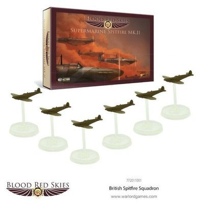 British Spitfire 6 Plane Squadron - Blood Red Skies - Warlord Games