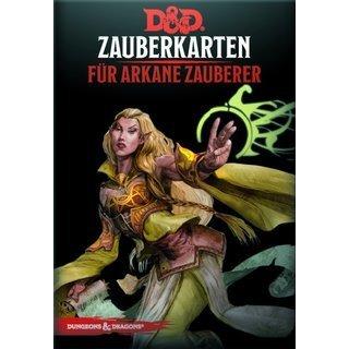 Dungeons & Dragons - Zauberkarten für arkane Zauberer - DE 9781945625725