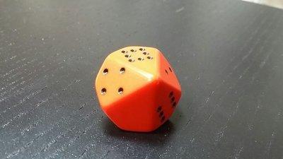 10-seitig Punkte Würfel - D10 Pips Dice - Orange-Schwarz