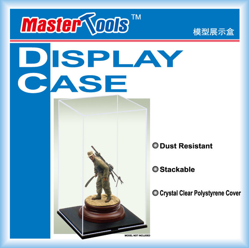 DISPLAY CASE 09807 117mmX117mmX206mm - Trumpeter trumpeter-09807