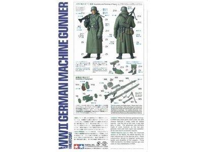 1/16th Scale World Figure Series - WWII German Machine Gunner Greatcoat - Tamiya