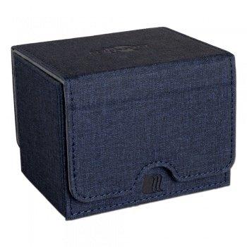 Convertible Premium Deck Box Single Horizontal 100+ Standard Size Cards - Blue