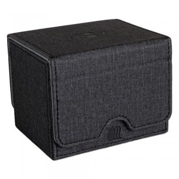 Convertible Premium Deck Box Single Horizontal 100+ Standard Size Cards - Black