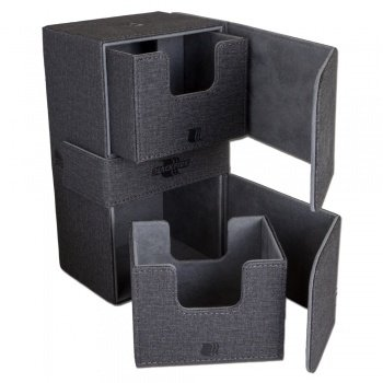 Convertible Premium Deck Box Dual 200+ Standard Size Cards - black
