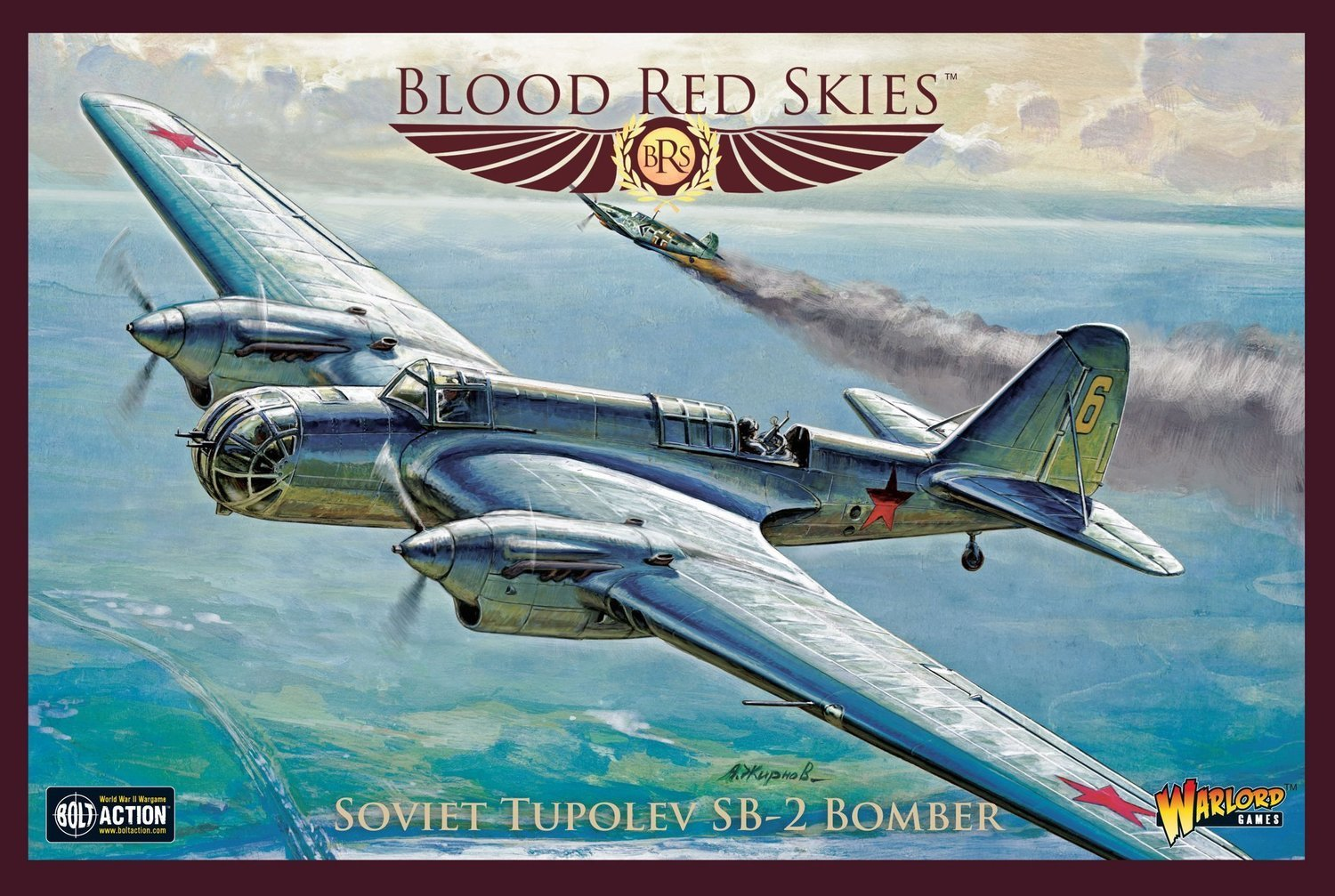 Soviet Tupolev ANT-40 (SB-2) Soviet Bomber - Blood Red Skies - Warlord Games