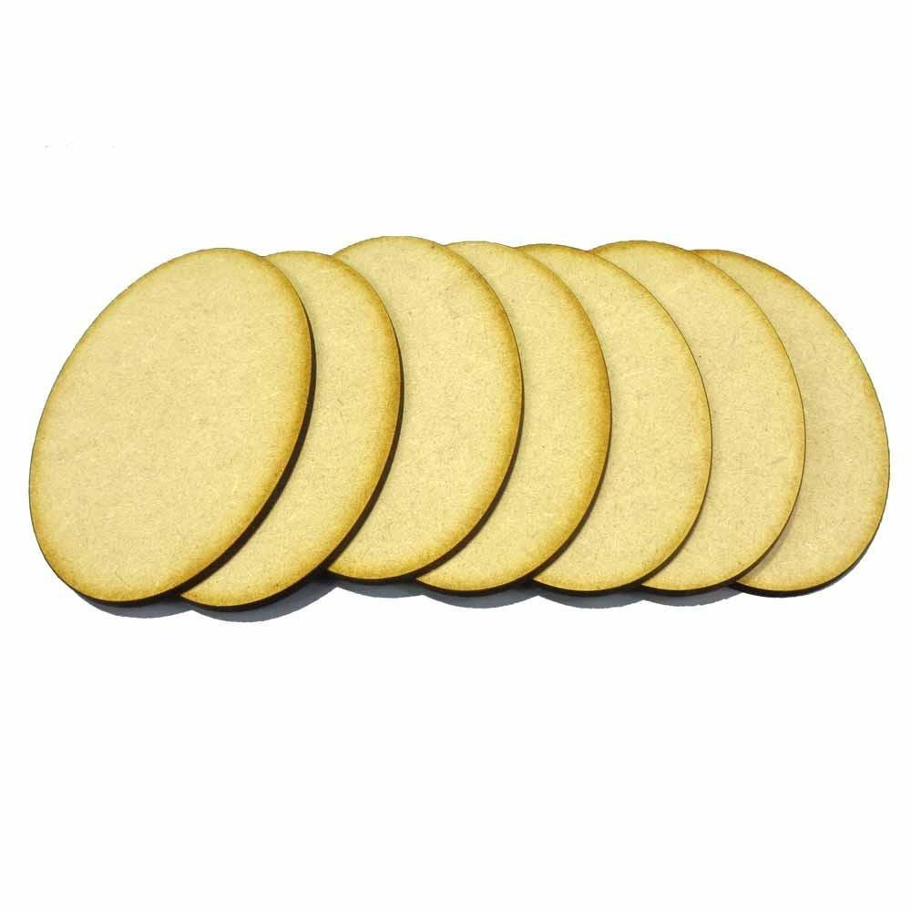 105mm x 70mm Oval Bases (7) - MDF