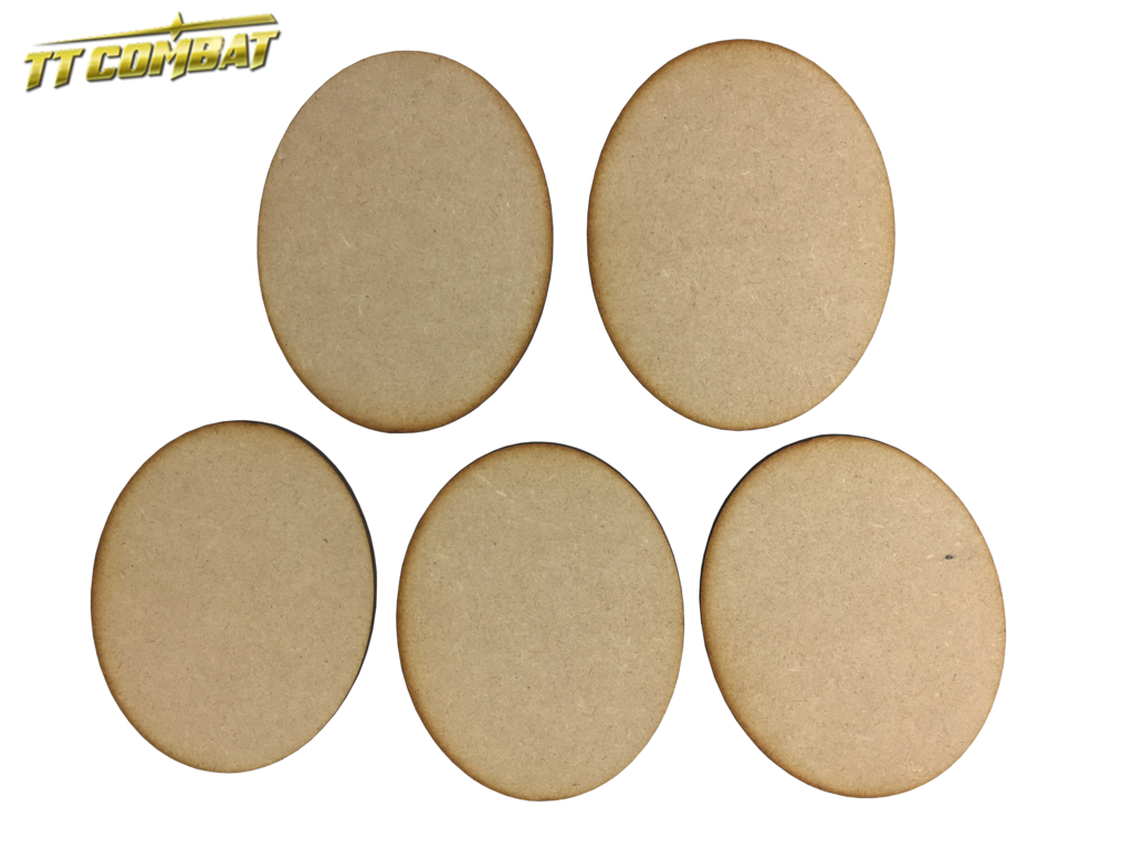 120mm x 95mm Oval Bases (5) - MDF BR120Oval