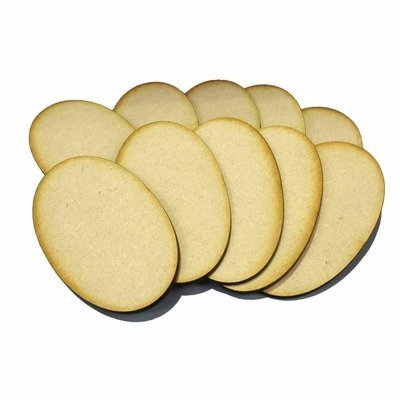 90mm x 52mm Oval Bases - MDF