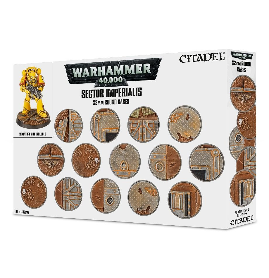 Sector Imperialis 32mm Round Bases - Games Workshop 99120199039