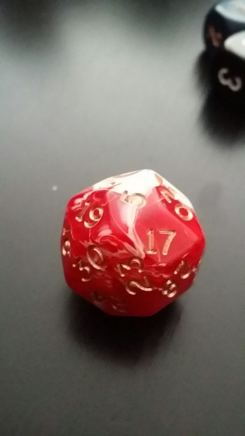 Rot/Weiss W30 Marblized D30 - Chessex