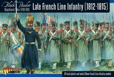 Napoleonic War Late French Line Infantry (1812-1815) - Black Powder - Warlord Games