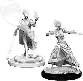 D&D Nolzur's Marvelous Miniatures - Fire Genasi Female Wizard