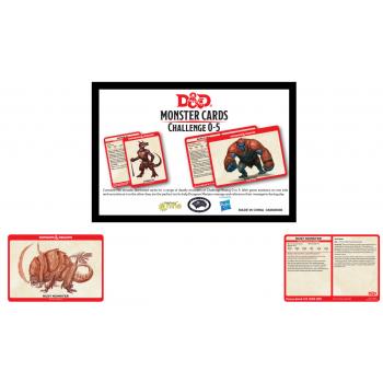 Dungeons & Dragons - Monster Card Deck Levels 0-5 (195) - EN
