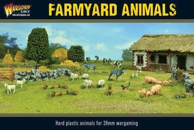 Farmyard Animals Set Tiere - Ziegen, Schweine, Esel - Warlord Games