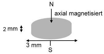 10 Neodym Magnete rund 3 x 2 mm mag32-101025