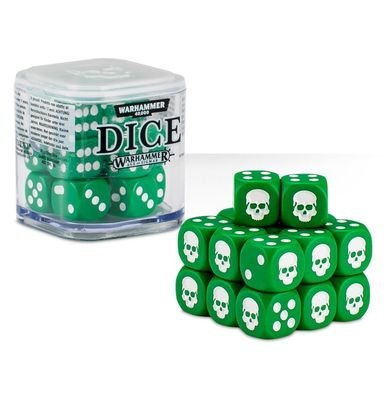 Dice Cube Würfel D6 (20) Grün - Games Workshop