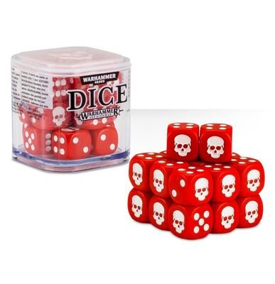 Dice Cube Würfel D6 (20) Rot - Games Workshop