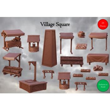 Village Square - Terrain Crate - Mantic Games