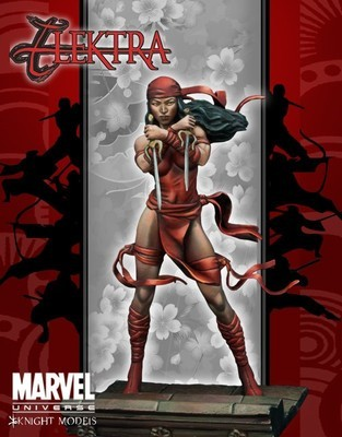 Elektra 70mm - Marvel Knights Miniature