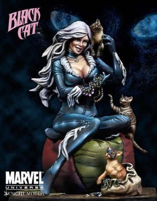 Black Cat 70mm - Marvel Knights Miniature