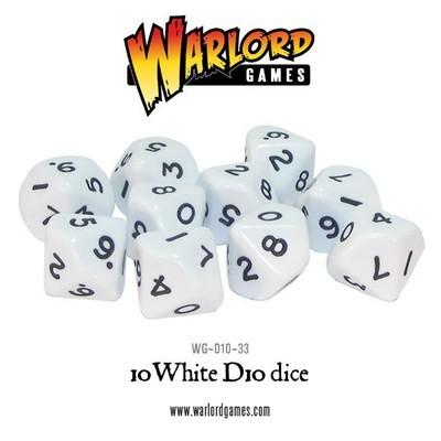 Würfel - Weiss - D10 - Warlord Games