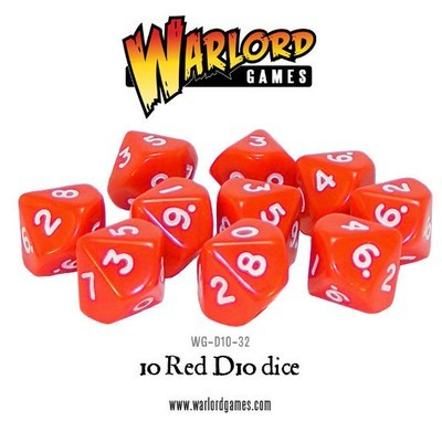 Würfel - Rot - D10 - Warlord Games