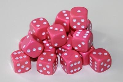 Würfel D6 Pink - Dice (12mm) - Kingsley
