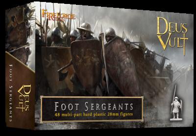 Foot Sergeants (48 infantry plastic figures) - Deus Vult - Fireforge Games