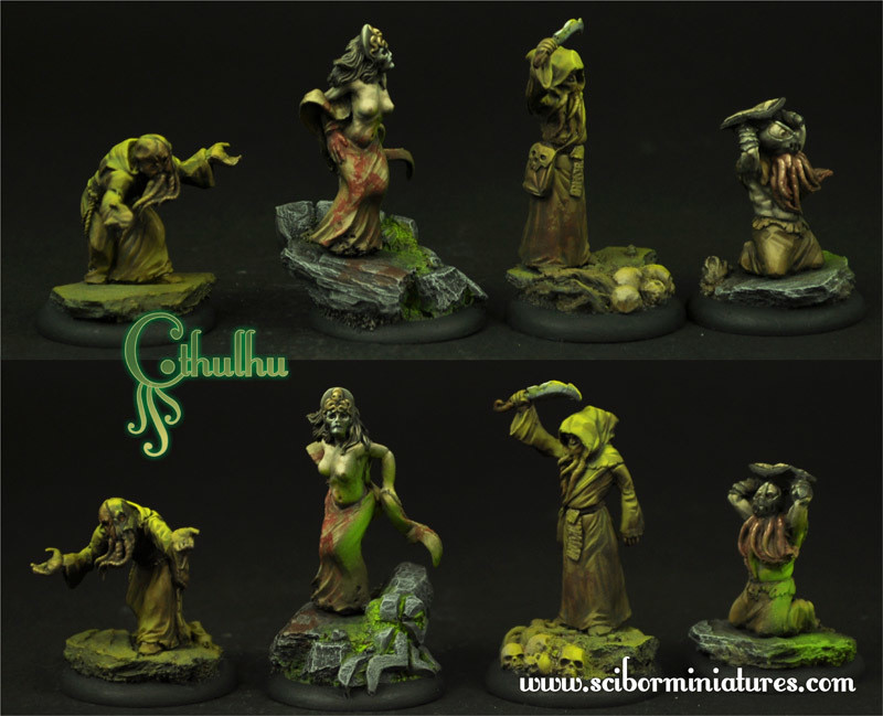 Cthulhu Cultists set - Scibor Miniatures