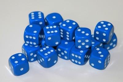 Würfel D6 Blau - Dice (12mm) - Kingsley