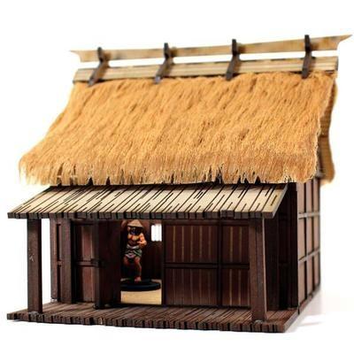 Peasant Labourer's Dwelling - Shogunate Japan - Hütte bemalt - 4Ground
