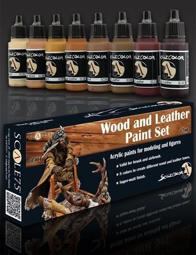 Wood and Leather Paintset - Holz und Leder Farbset Paint Set - Scale75