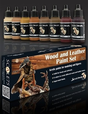 Wood and Leather Paintset - Holz und Leder Farbset Paint Set - Scale75